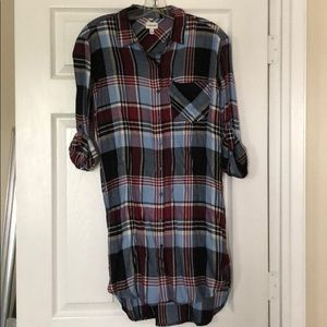 Sneak Peek Dresses - Brand New Plaid Shirtdress